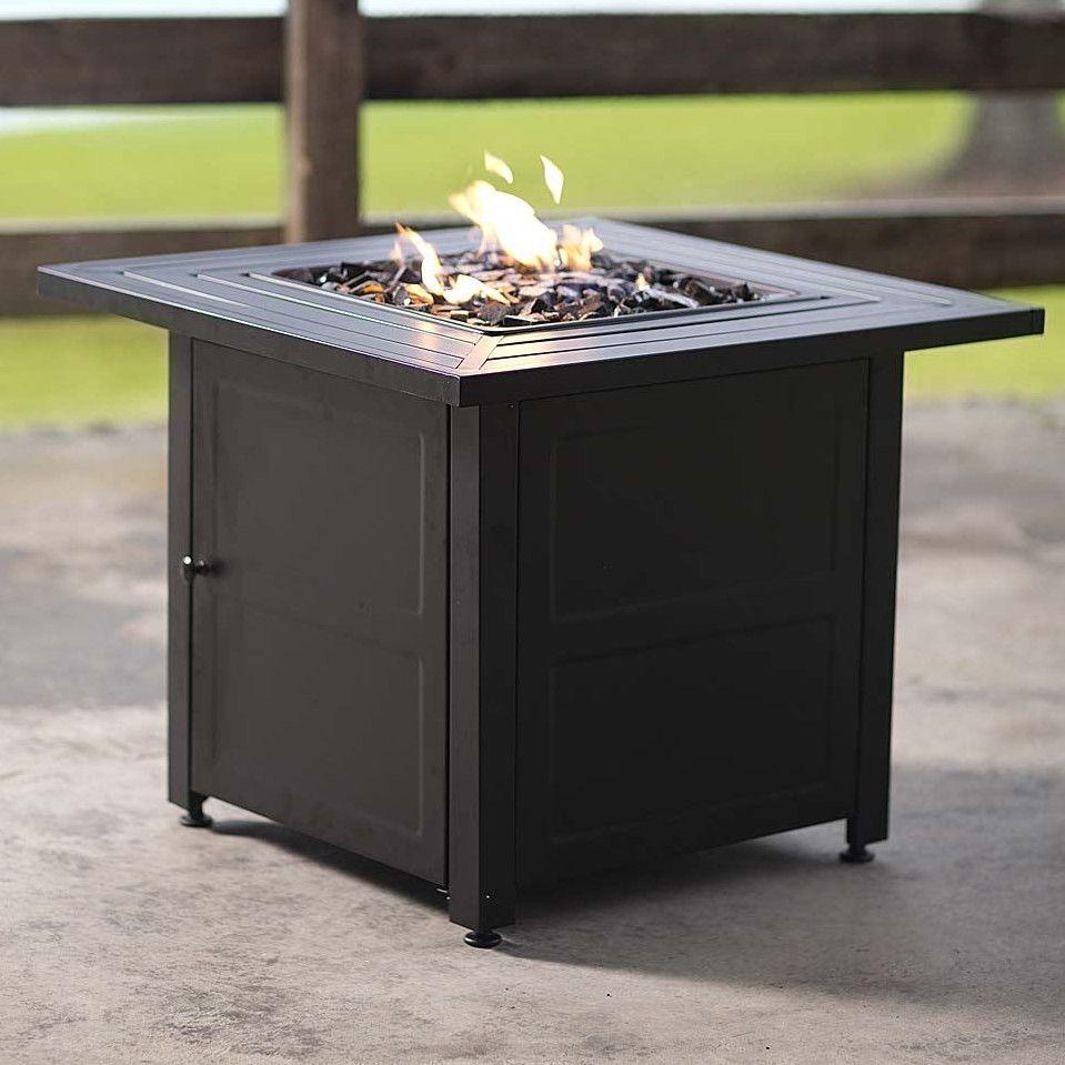 Plow u hearth slatted propane fire pit table backyard redo ideas