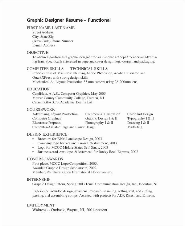 Graphic Design Intern Resume Luxury Sample Objective For Resume 10 Examples In Word Pdf Graphic Design Resume Resume Design Job Resume Samples