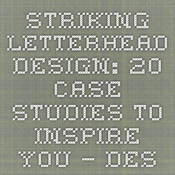 Striking Letterhead Design: 20 Case Studies to Inspire You – Design School