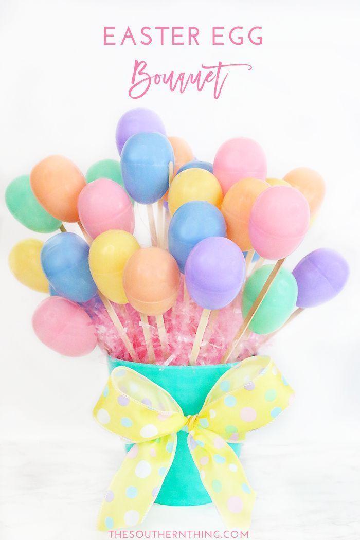 diy easter egg bouquet tutorial easter egg hunt craft ideas