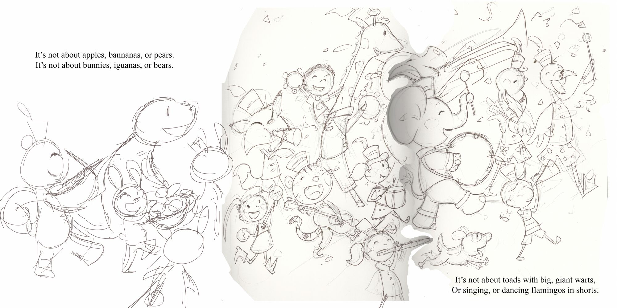 Second Page ROUGH sketch of