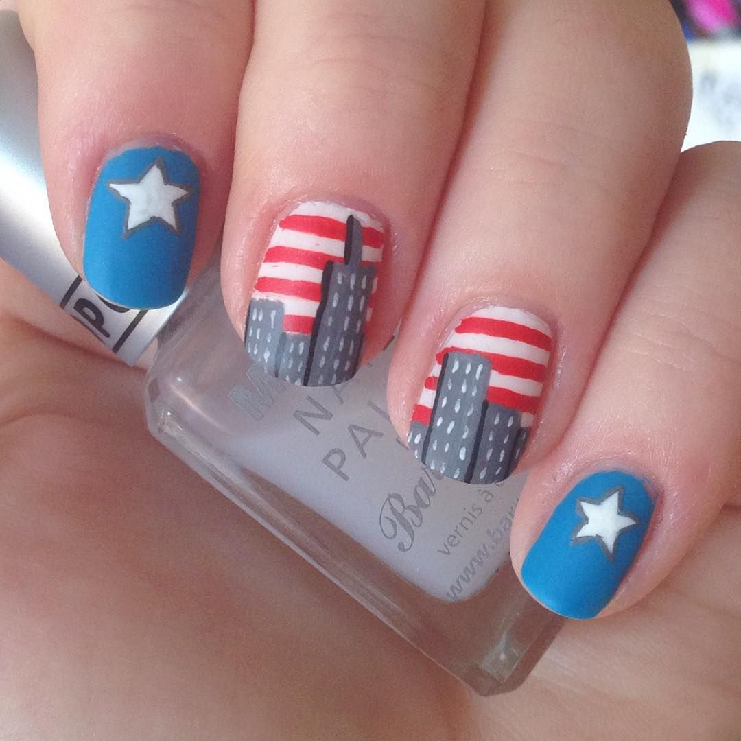 nnmnails on instagram: 9/11 rememberance, never forget, nail art