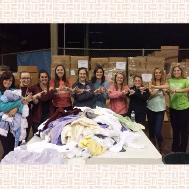 Alpha Chi's volunteering at Convoy of Hope! #OnTuesdayWeConvoy