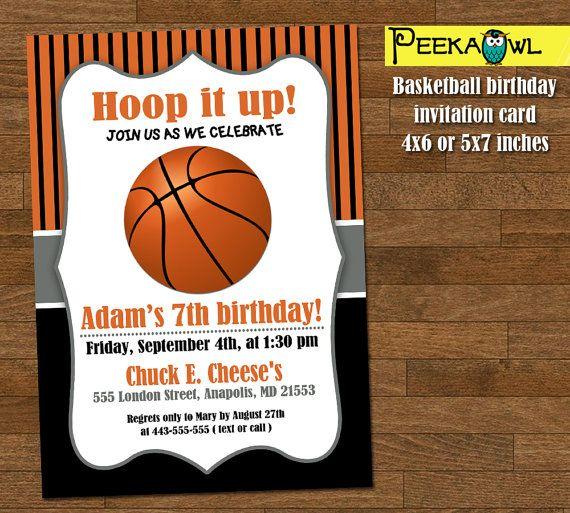 printable basketball invitations boys basketball birthday
