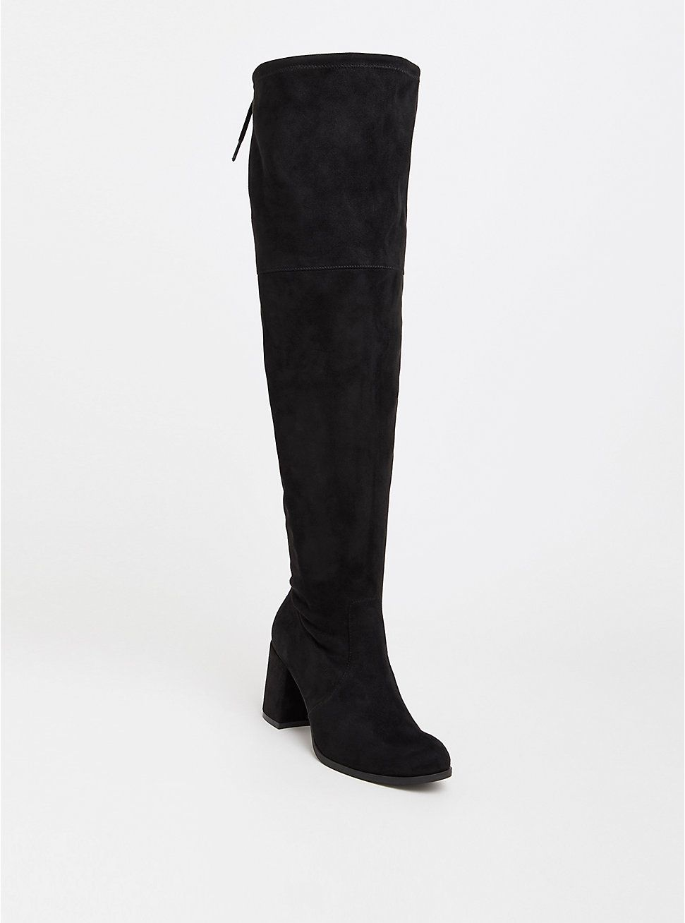 d538aa96016 Plus Size Black Faux Suede Over the Knee Boot (Wide Width   Wide Calf)