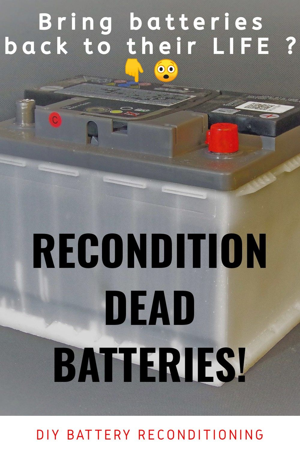 How To Repair Or Restore Any 12v Battery Ups Battery Or Car Battery Reuse Dead Battery Youtube Car Battery Hacks Dead Car Battery Recondition Batteries