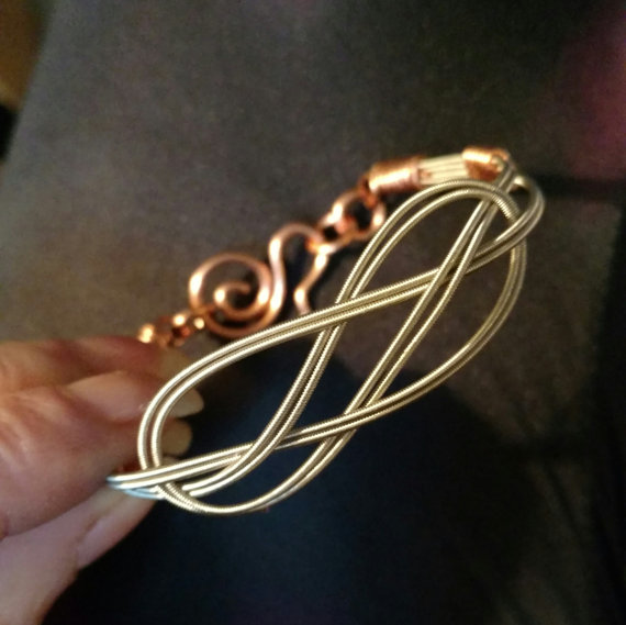 Celtic Knot Guitar String Bracelet Musician Music by CPaulDesigns