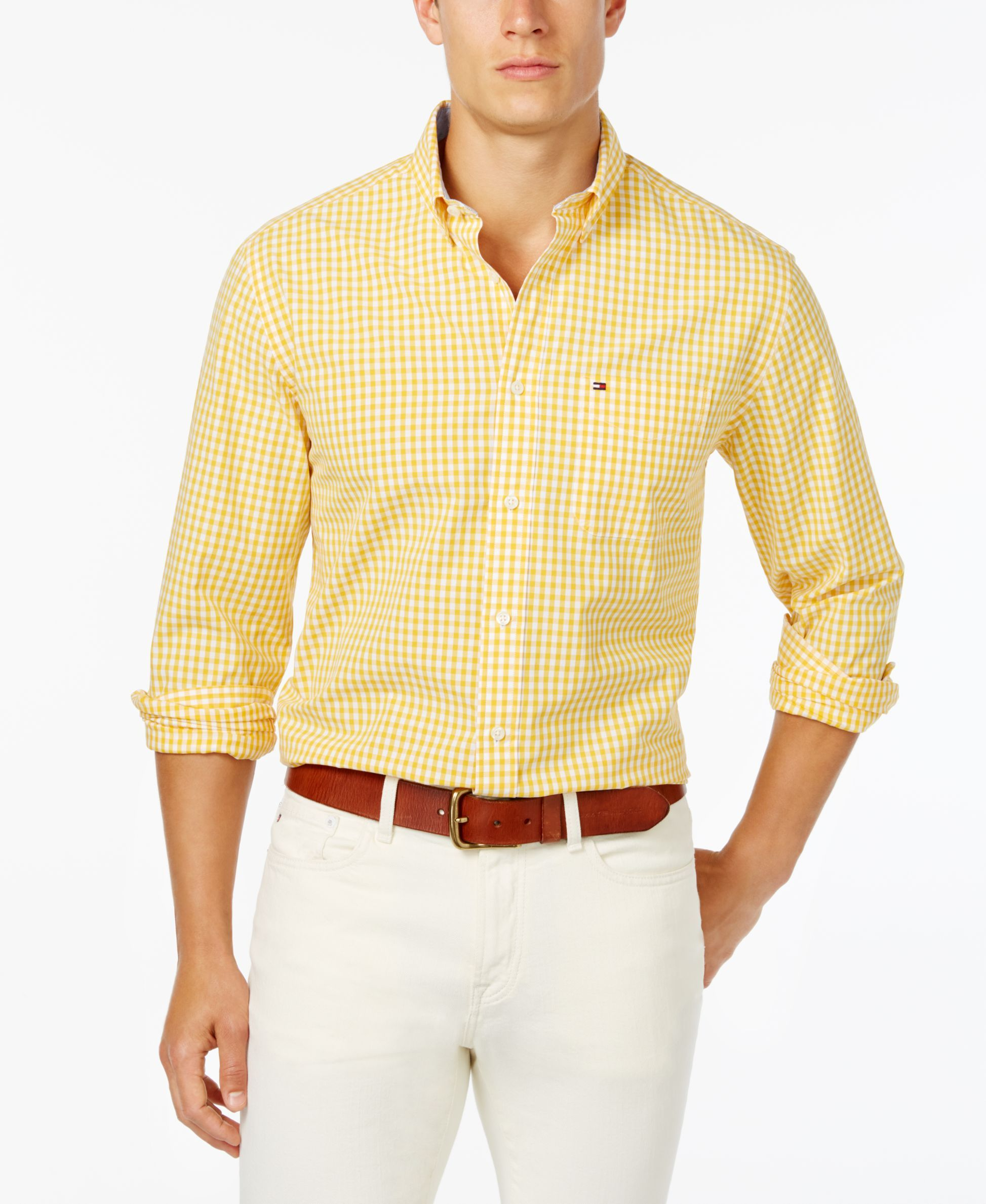 c0bc9ce3e Men's Long-Sleeve Twain Gingham Check Classic Fit Shirt, Created for ...