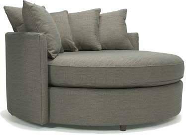Contemporary Furniture For The Modern Home Jeanie Round Chair And A Half Ottomans Benches Sofas Sectionals In Fabric