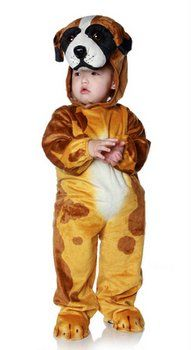 Toddler Child Brown Dog Costume Candy Apple Costumes Baby Dog