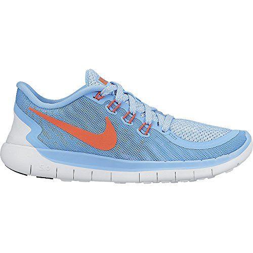 NIKE Girl's Free 5.0 Running Shoe (GS) Blue/Crimson Size 7 M US