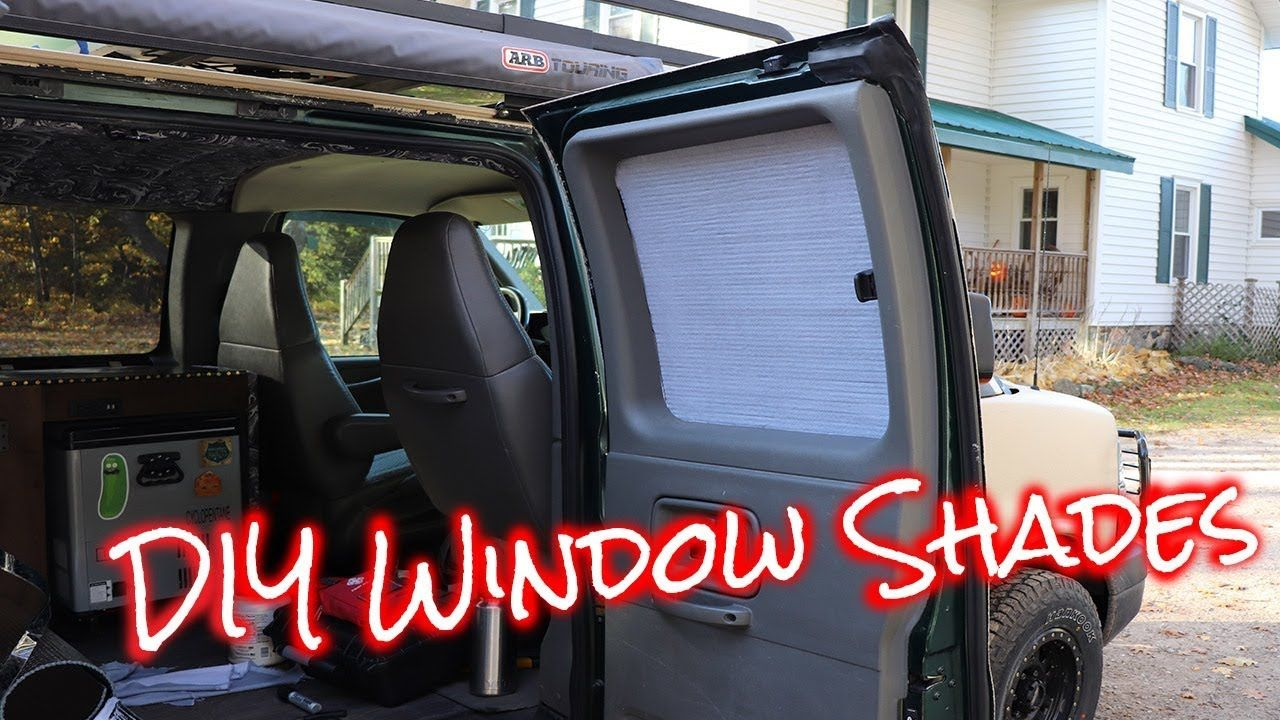 How to make cheap easy window shades for vans/cars DIY ...