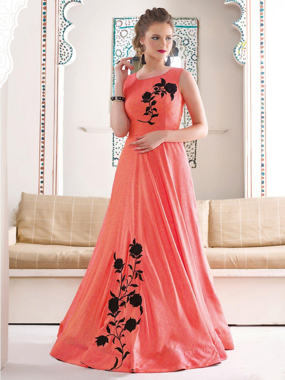 Designer Wedding Wear Gown. | Wedding Wear Anarkali Type Gown ...