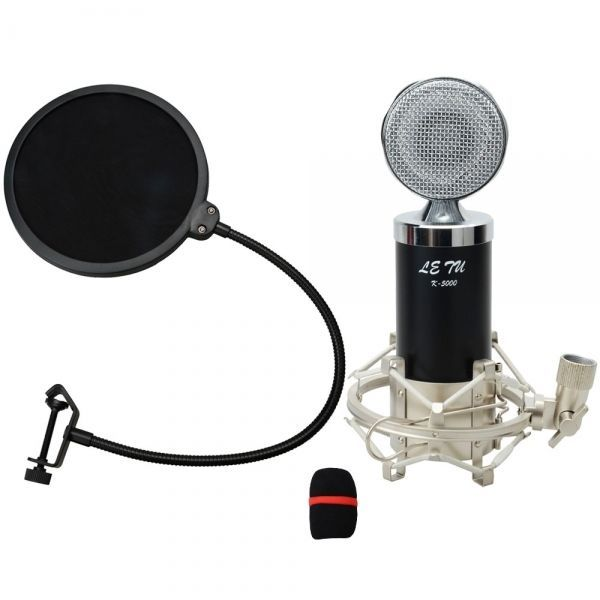 amazones gadgets L, Microphone Black Shock Mount Cable Sponge Cover Pop Filter Letu K-5000 Conden: Bid: 77,67€ Buynow Price 77,67€…