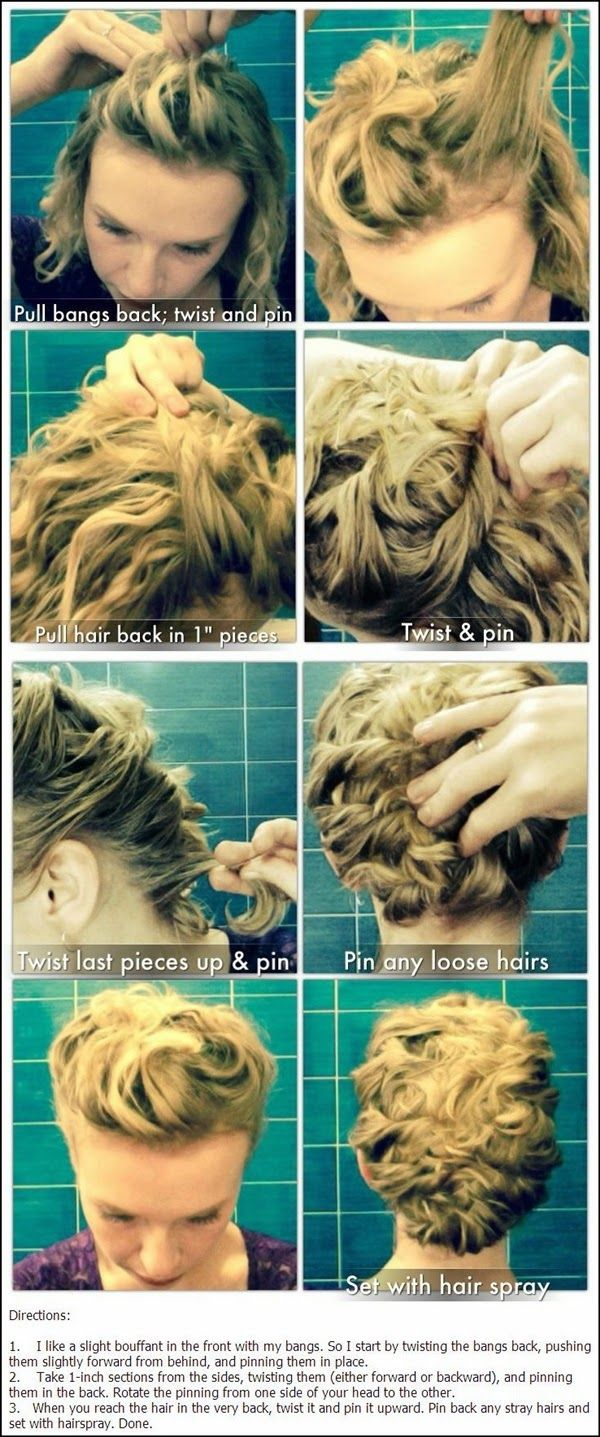Top easy stylish updos for curly hair curly updo hairstyles