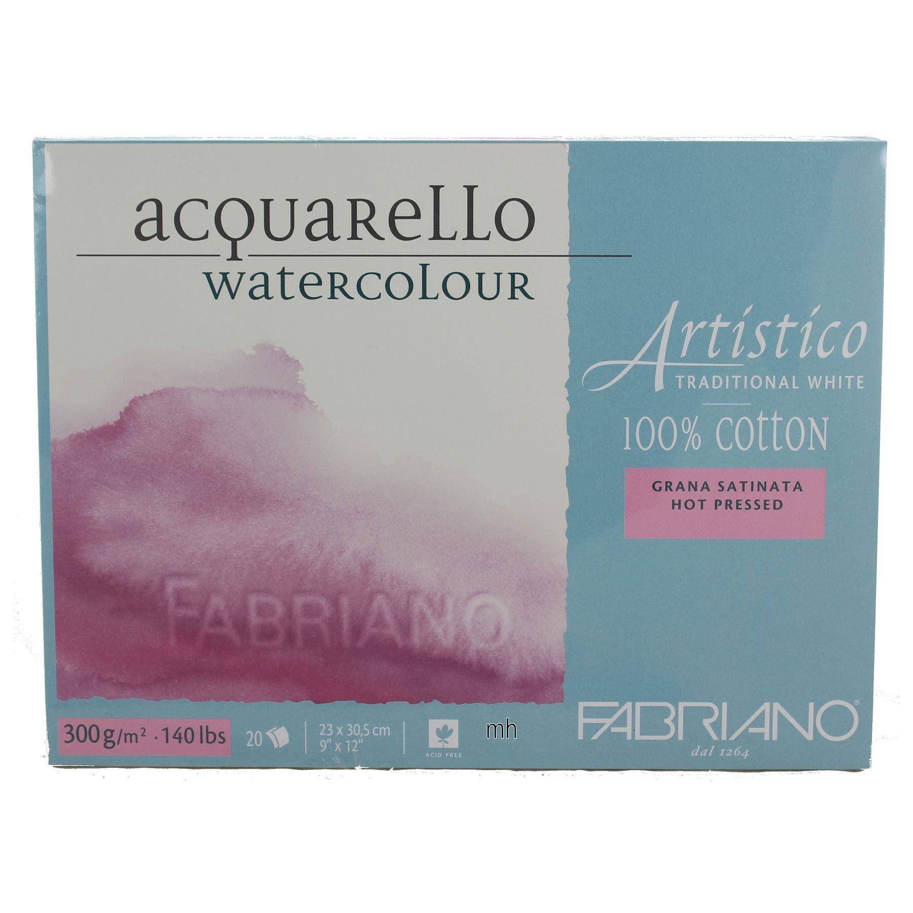Fabriano Artistico Acquarello Traditional White 100 Cotton Hot
