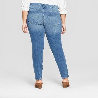 bce58279828 Women s Plus Size Four Way Stretch Skinny Jeans - Universal Thread Medium  Wash 18W