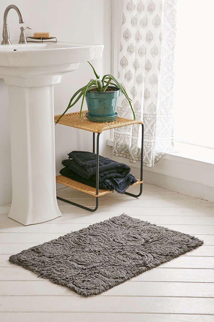 Frayed Roses Bath Mat Bath Mat Bath And Bathroom Furniture - Rose bath rug for bathroom decorating ideas