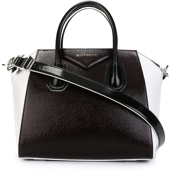 Givenchy small 'Antigona' tote ($2,005) ❤ liked on Polyvore featuring bags, handbags, tote bags, white, genuine leather handbags, white tote bag, genuine leather tote, genuine leather tote bag and givenchy purse