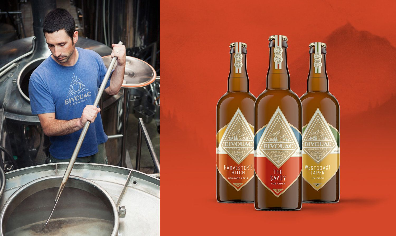 Bivouac Ciderworks Comes With A Clean Look That Makes This Product A Standout Craft Cider Tap Room Cider