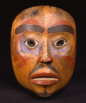 Bella Bella (Heiltsuk or Haisla) Mask 1860-1880 Fenimore Art Museum  ♨️💢💢More At FOSTERGINGER At Pinterest 💢💢♨️