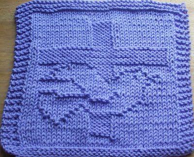 DigKnitty Designs: Cross and Dove Knit Dishcloth Pattern | knitting ...