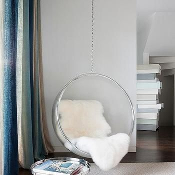 Reading Corner With Acrylic Hanging Bubble Chair Classic Chair Design Bubble Chair Room Decor