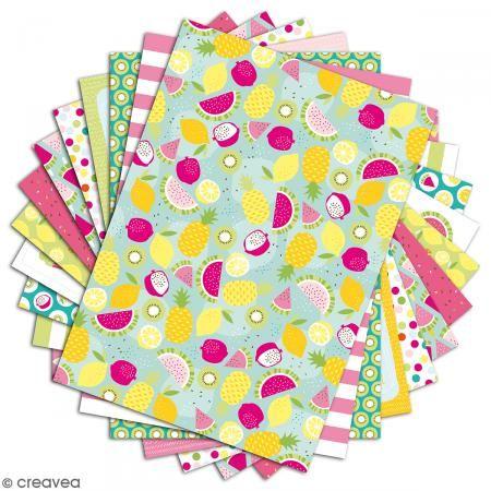Papier Scrapbooking Toga Color Factory Summer 48 Feuilles En A4 Bloc Papier A4 Creavea Papier Scrapbooking Scrapbooking Feuille