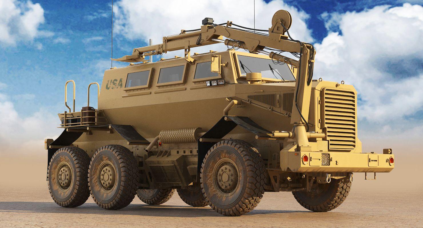 3d Model Buffalo Mrap 3d Model Model Monster Trucks