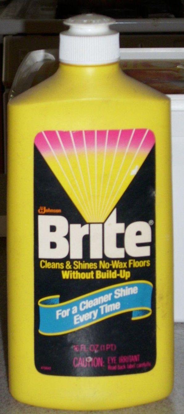 Brite Floor Cleaner Bottle 1982 Retro Packaging Vintage