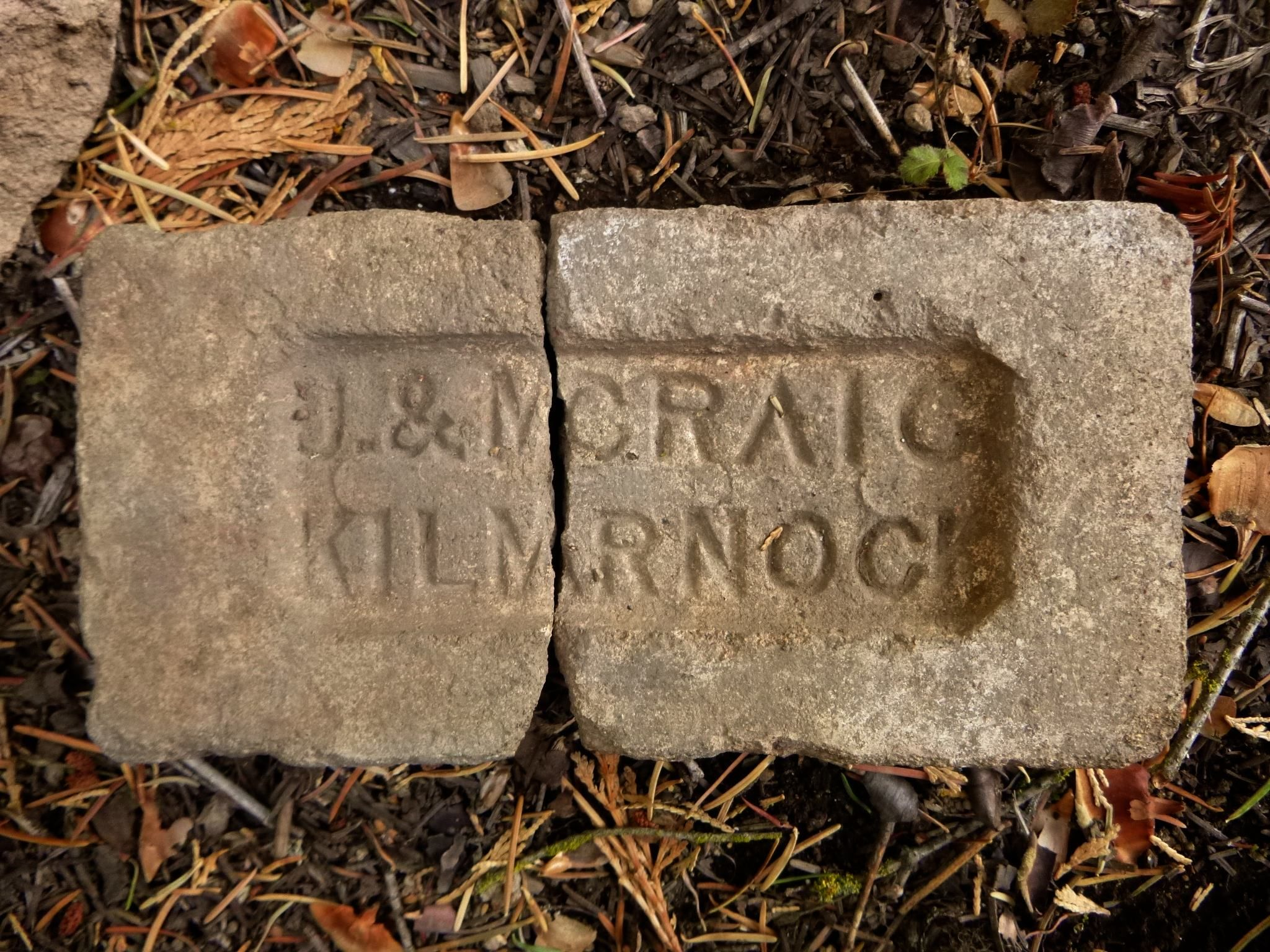 """Found this Scottish """"J&M CRAIG/KILMARNOCK"""" firebrick last week when I was doing volunteer work at an 1890s lumber mill site in the Sequoia National Forest, California."""