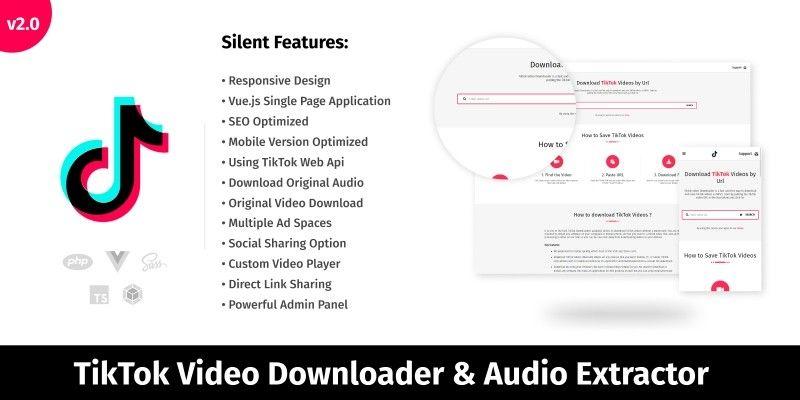 Tiktok Video Downloader Php Script By Codespikex Video Script Web Based