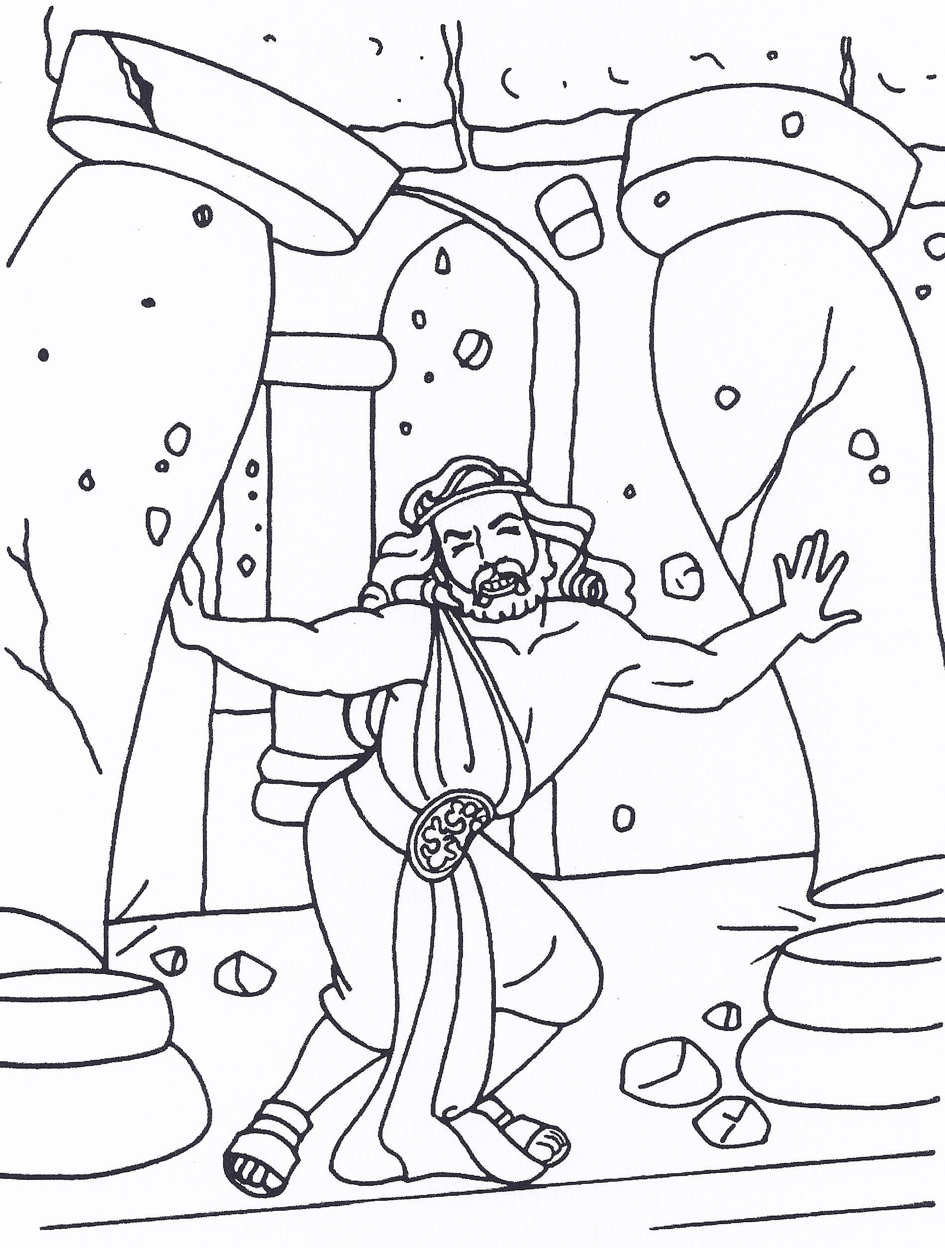 Samson Coloring Pages Bible Coloring Pages