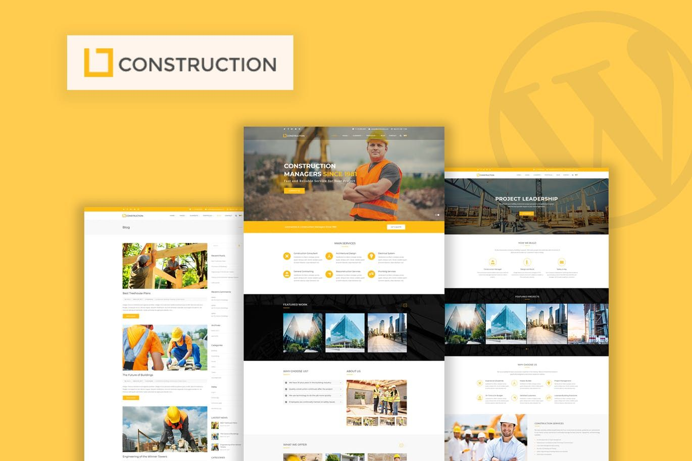Construction - Business & Building WordPress Theme - Work on