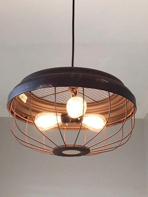Industrial 3 Bulb Metal Pendant Light Industrial Light Fixtures Rustic Lighting Farmhouse Lighting