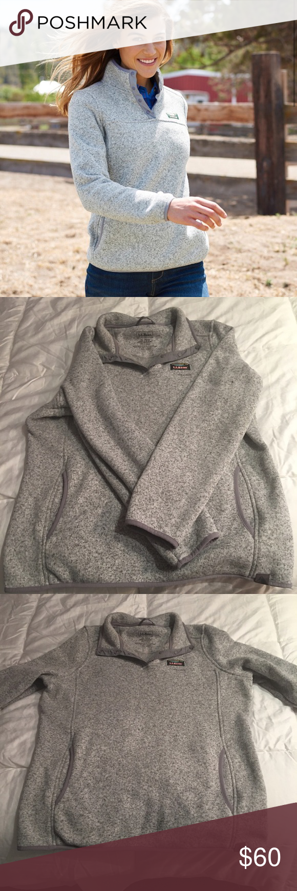 761d7e1670e53 LL Bean Sweater Fleece Pullover LL bean fleece pull over women's size extra  large. Very warm and comfy only worn once, in perfect condition!!
