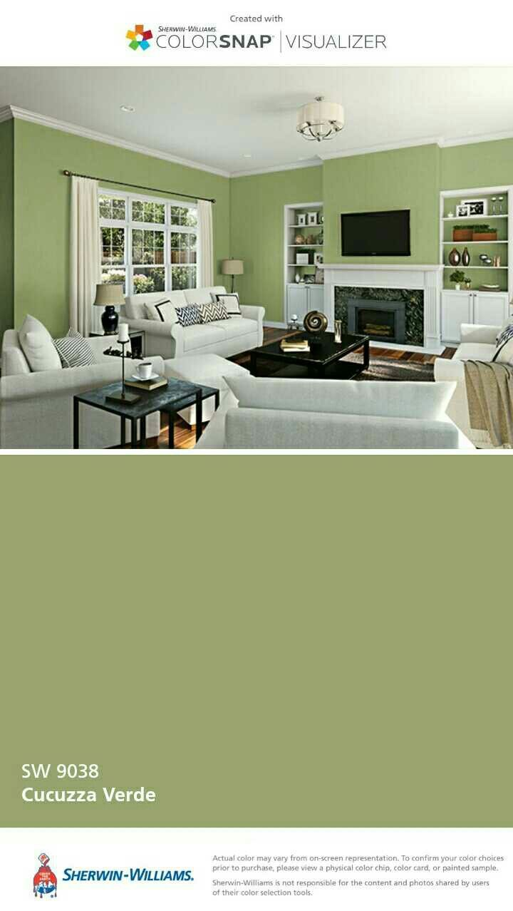 Sherwin-Williams Cucuzza Verde   Turquoise & lime living room ...