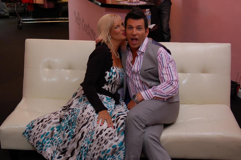 "David Tutera with Dolly herself - for the My Fair Wedding episode ""Mad Men Wedding"" from season 4"
