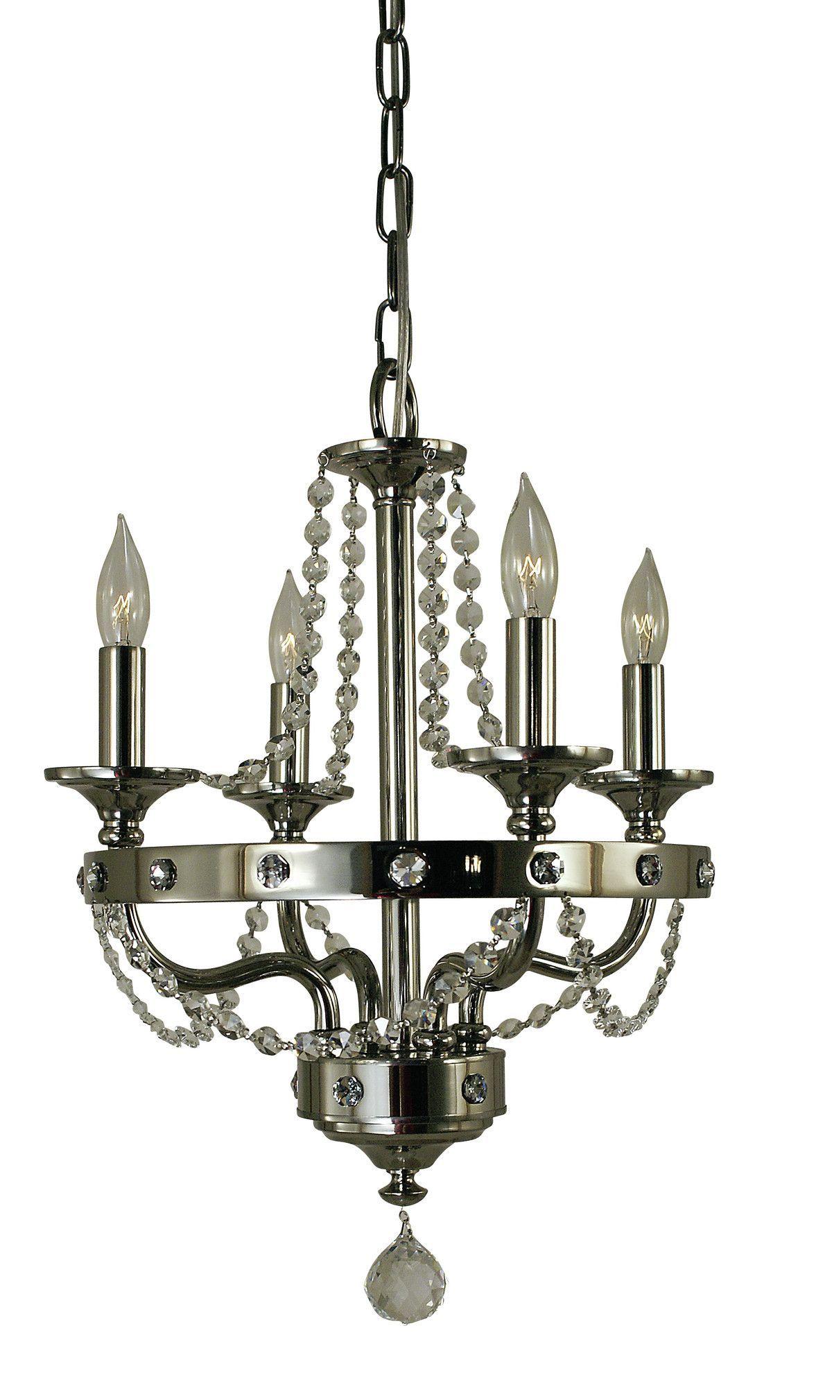 Isolde 4 Light Candle Chandelier