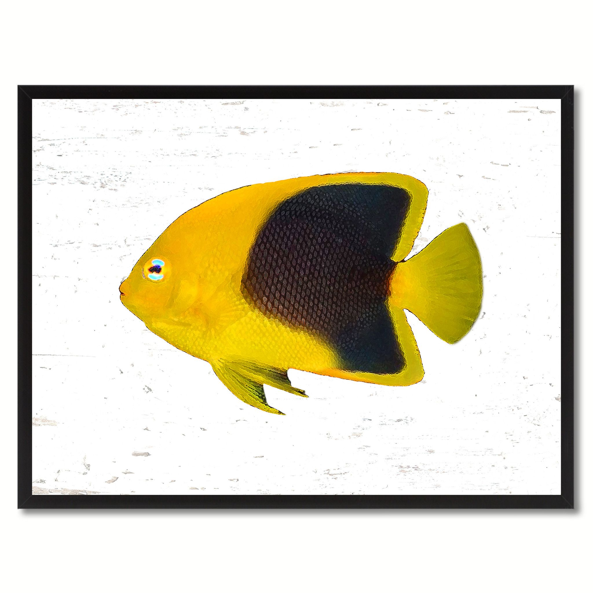 Yellow Angel Tropical Fish Painting Reproduction Gifts Home Decor ...