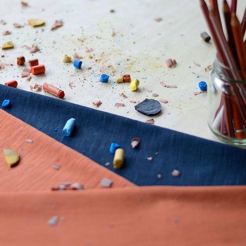 Flamé, Navy | NOSH Fabric Summer 2016 Collection - Shop online at en.nosh.fi | Kesän 2016 malliston kankaat saatavilla nyt verkosta nosh.fi