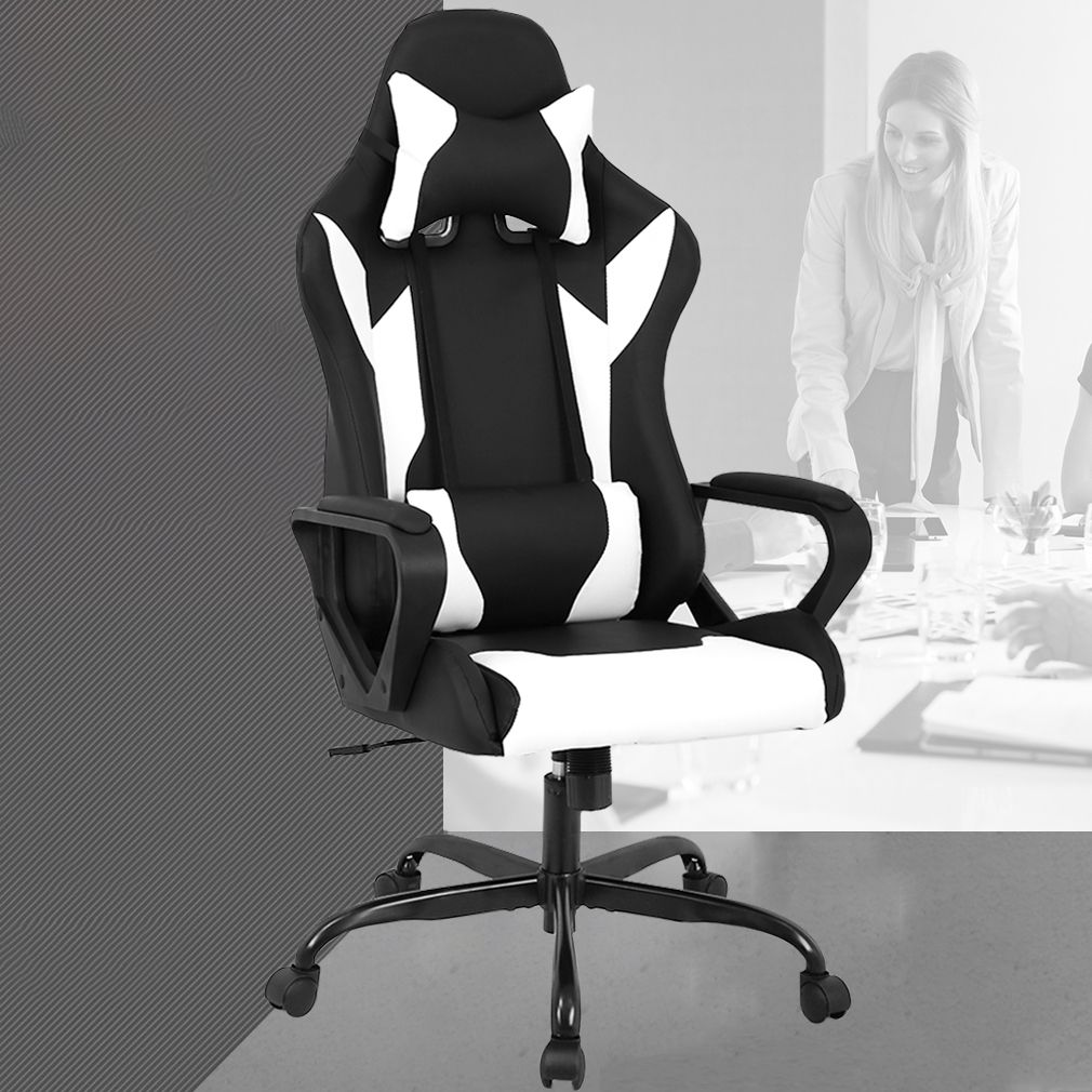 High Back Racing Ergonomic Gaming Chair Blue Ad Ergonomic Sponsored Racing High In 2020 Gaming Chair Computer Desk Chair Ergonomic Chair