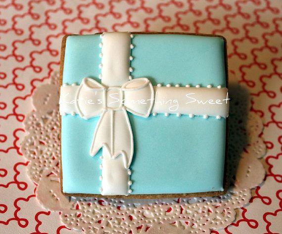 Wedding Cookies-Tiffany Gift Box Cookies-Edible Wedding Favors-Wedding Tiffany Blue-Wedding Shower Favors-Bridal Shower