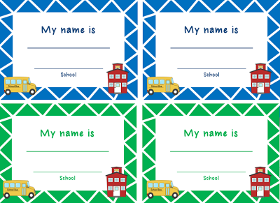 free field trips name tags