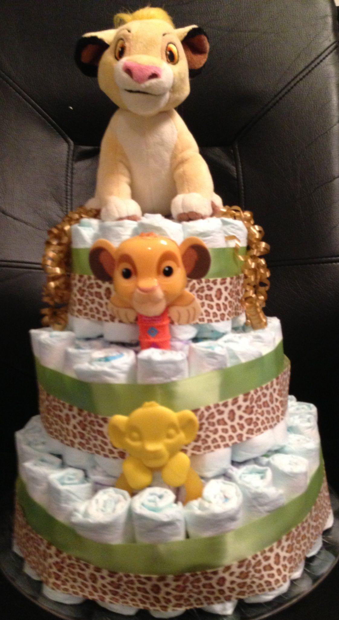 Lion king diaper cake   My Diaper cakes   Pinterest ...