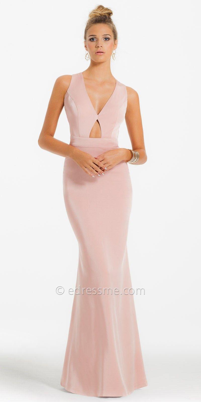 V-Neck Multi-Strap Open Back Prom Dress by Camille La Vie | Style ...