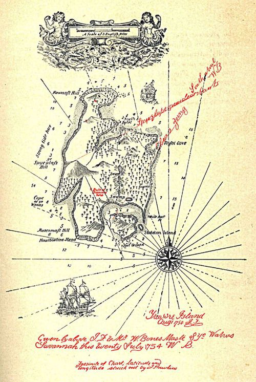 Robert Louis Stevenson's Treasure Island Map (1883) | Map Quest ...