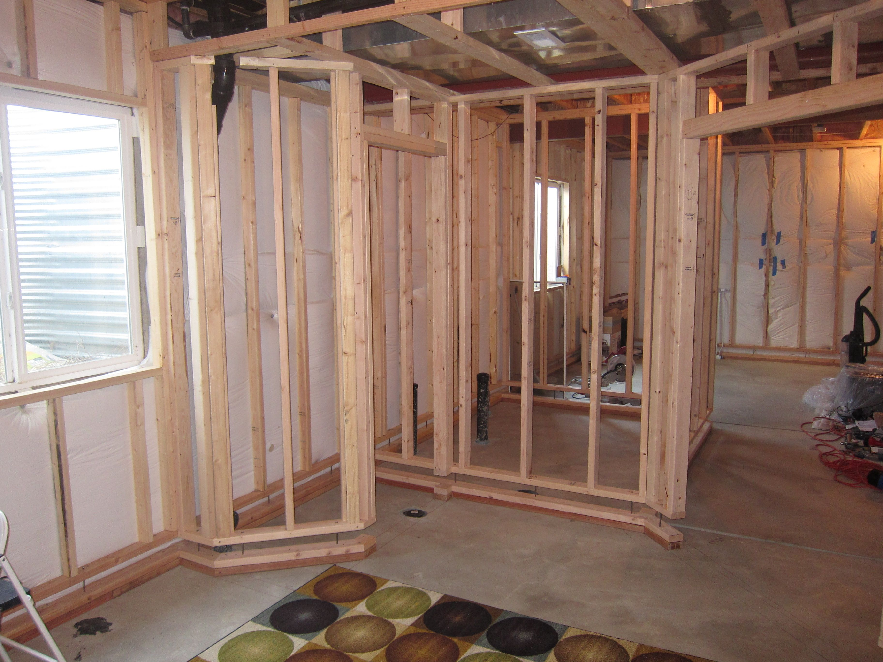Before And After Pictures Finishing A Basement Bedroom Framing Basement Walls Framing A Basement Basement Bedrooms