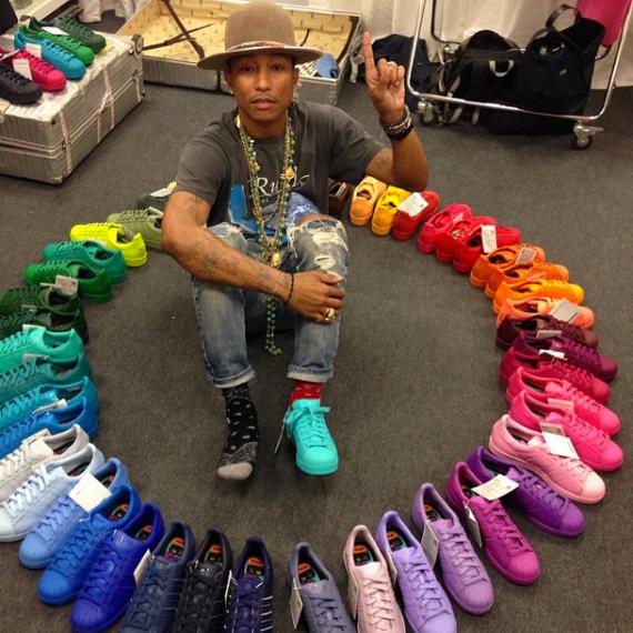 Pharrell Originali Anteprime Un Arcobaleno Di Adidas Originali Pharrell Superstar Degli Anni '80 a9cba3