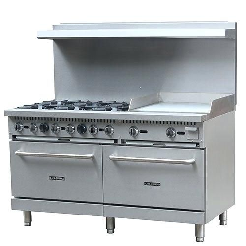Gas Stove With Grill India Diamond Commercial 60 Inches Griddle 24 Ng Regarding Awesome Residence Ideas Ranges